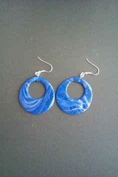 Se ti piacciono i miei #orecchini in #fimo visita la mia pagina fb! Blue & white earrings - if you like them please write to me at https://www.facebook.com/ChiaraCreazioniInFimo?ref=tn_tnmn