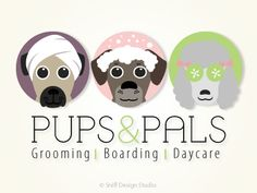 dog grooming logo mobile dog wash logo pet by stylemesweetdesign ...