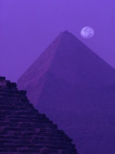 Moon and Pyramid of Khafre by Ron Watts