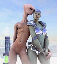 futuristic woman with alien