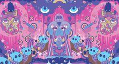 Super Furry Animals Album Cover Art by Keiichi Tanaami & Pete Fowler : Continuing their long-standing partnership, Japanese pop icon Keiichi Tanaami and UK artist Keiichi Tanaami, Super Furry Animals, Pet Goldfish, Neo Dada, First Art, Japan Art, Magazine Art, Cover Art, Album Covers