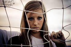 Senior soccer girl
