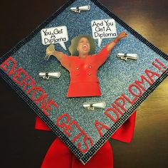 Struggling to figure out how to decorate a graduation cap? Get some inspiration from one of these clever DIY graduation cap ideas in These high school and college graduation cap decorations won't disappoint! Disney Graduation Cap, Funny Graduation Caps, Custom Graduation Caps, Graduation Cap Toppers, Graduation Cap Designs, Graduation Cap Decoration, Graduation Diy, Funny Grad Cap Ideas, Nursing Graduation