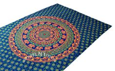 Elephant Mandala Tapestry Hippie Tapestries Wall by printsNtrims