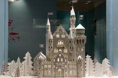 PAPER CASTLES - Jewellery window display by Mathilde Nivet, via Behance