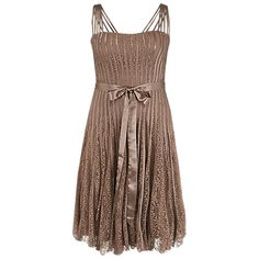Buy Chesca Montique Lace and Satin Tape Dress, Mocha Online at johnlewis.com