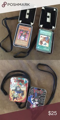 Yu-gi-oh collectible trading cards 2 carrying cases w lanyards one full and one 3/4 full! One case has cards in protective laminate! No bends rips or tears! Great condition! Son is 18 and found them in his closet Yu-GI-oh Other