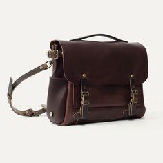 Bleu de Chauffe I Sac Postier Eclair I Postman Bag Eclair   Leather messenger bag
