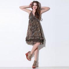 NEONICE Deep V Halter Chiffon Dress Q10226Y