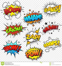 Comic Sound Effects - Download From Over 28 Million High Quality Stock Photos, Images, Vectors. Sign up for FREE today. Image: 36382565