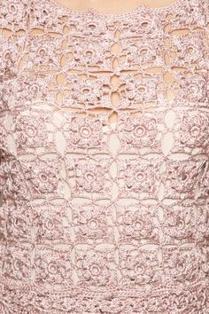 Vestido Crochet Poupee Madrepérola - Vanessa Monto - vanessamontoro