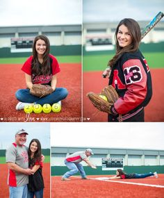 Love that dad got to be included! Senior Softball, Softball Senior Pictures, Girl Senior Pictures, Girls Softball, School Pictures, Sports Pictures, Senior Pics, Senior Year, Cheer Pictures