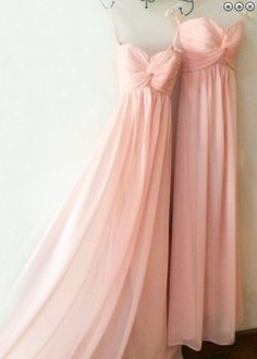 Discount Delightful Pink Bridesmaid Dresses, Hot Selling Sweetheart Floor Length Chiffon Pink Bridesmaid Dress With Ruched Affordable Prom Dresses, Cheap Prom Dresses, Simple Dresses, Light Pink Bridesmaid Dresses, Bridesmaid Outfit, Bridesmaids, Wedding Party Dresses, Chiffon Dress, Pink Dress