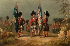 79th Highlanders in 1841 at Gibraltar (BBC - Your Paintings )