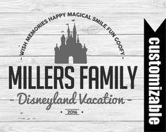 Disney Vacation Iron On Last Name Transfer by DuckyDigital on Etsy