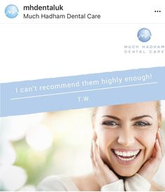 """I've been a patient at Much Hadham dental practice for a few years now and can't recommend them highly enough! From the welcoming receptionists to the professional dentists and nurses, this is a lovely practice. Dental Health, Dental Care, Invisible Braces, Teeth Straightening, Root Canal Treatment, Simply Life, Perfect Smile, Dental Services, Dentists"