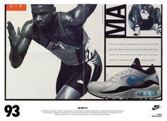 Nike Air Max przez lata - za chwilę urodziny - News, StreetWear - Szczepan Radzki Nike Poster, Vintage Nike, Vintage Ads, Lps, Air Max St, Nike Motivation, Nike Ad, Nike Spandex, Nike Wedges