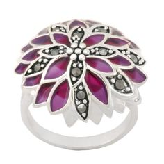 Sterling Silver Marcasite Purple Epoxy Flower Ring, Size 7 Amazon Curated Collection,http://www.amazon.com/dp/B005BYC6LG/ref=cm_sw_r_pi_dp_CNsEsb0P69TYS2J9