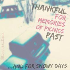 Day Four of #gratitude #NewYearsReSolution & woke to snow. #365Thankful2015