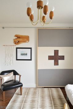 How To Make A Lightweight Sliding Barn Door - made from fabric and lightweight frame!