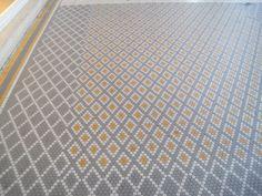 Yellow and gray tile floor in Paris via Greige. Flooring On Walls, Modern Flooring, Unique Flooring, Bedroom Flooring, Vinyl Flooring, White Flooring, Garage Flooring, Linoleum Flooring, Cork Flooring