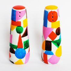 Colourbox ceramic salt & pepper shakers