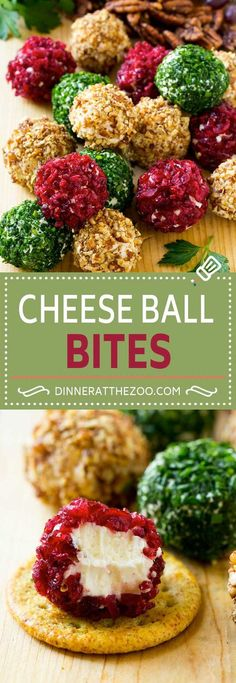 Cheese Ball Bites Recipe | Holiday Cheese Ball Recipe | Pecan Cheese Ball | Cranberry Cheese Ball | Mini Cheese Balls