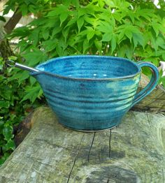 Batter mixing bowl hand thrown in stoneware