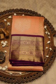 Online shopping from a great selection at Clothing & Accessories Store. Half Saree Designs, Pattu Saree Blouse Designs, Saree Blouse Patterns, Bridal Blouse Designs, Kanchi Organza Sarees, Kanjivaram Sarees Silk, Kanchipuram Saree, Georgette Sarees, Pattu Sarees Wedding