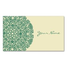 Green Mandala Pack Of Standard Business Cards