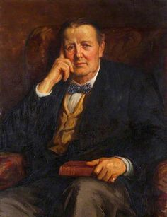 """""""Sir Edwin Ray Lankester, President of Ipswich Museum (c.1900–1929)"""", c. 1910-1920, by George Percy Jacomb-Hood (British, 1857-1929)."""
