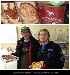 Photo of the Day - Michael and Tom were really excited about the pizza they had yesterday for lunch. Thank you, Kelly and Amy!