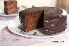 """Tarta de chocolate """"Praga"""". Paso a paso ilustrado - ESBIETA"""