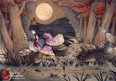 Running With Monsters by TeaKitsune.deviantart.com on @DeviantArt