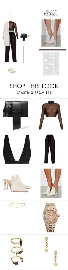 """""""Sofisticado"""" by naudad ❤ liked on Polyvore featuring Prada, Zimmermann, Monique Lhuillier, Gianvito Rossi, Shay, Audemars Piguet, Noir Jewelry, Versace and Max & Moi"""