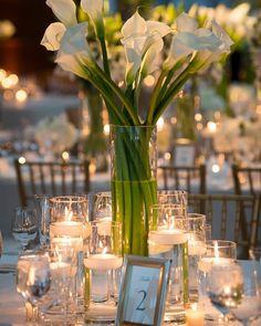 Décoration de table deco verre table Orchidée récipient de verre avec rose rouge et glasvase 45 CM
