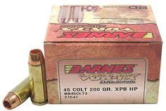 Shooting :: Ammunition :: Centerfire Handgun Ammunition :: Barnes Bullets 45 Colt 200gr XPB VOR-TX /20 - Outdoor Arsenal