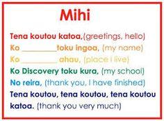 Image result for te reo maori anei tenei tena