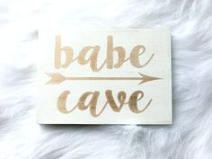 Babe Cave Wood Sign Pink Gold Blue Tween Teen Baby Office Craft Room Decor…