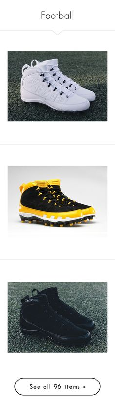 """Football"" by k4200mazikapo ❤ liked on Polyvore featuring men's fashion, men's shoes, men's sneakers, black, mens shoes, mens sneakers, mens black sneakers, nike mens shoes, nike mens sneakers and jewelry"