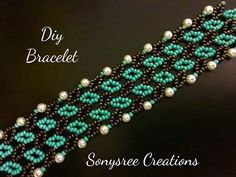 Pretty Beaded Bracelet - YouTube