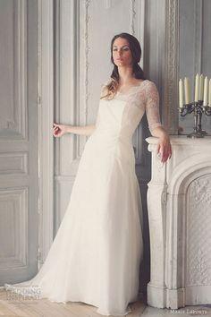 marie laporte bridal 2013 marine wedding dress sleeves
