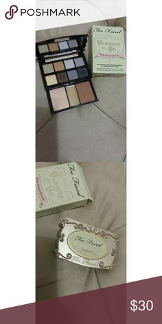 Too Faced Glamour To Go Palette Spun Sugar Edition! Barely swatched, comes with box. Authentic, all of my Too Faced makeup was bought at Sephora. Too Faced Makeup