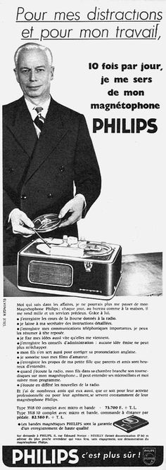 Publicité Philips 1958