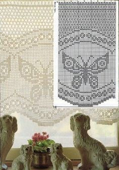 Kira scheme crochet: Scheme crochet no. Filet Crochet Charts, Crochet Borders, Crochet Stitches Patterns, Crochet Diagram, Crochet Motif, Crochet Doilies, Stitch Patterns, Knit Crochet, Fillet Crochet