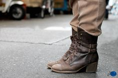 brown leather buckled #boots :: #Anthropologie