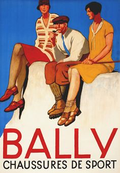 Bally Chaussures de Sport. Emil Cardinaux' poster for shoe company Bally, 1920s.