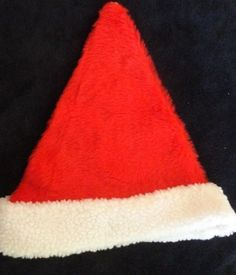 bdd6723e5ec mens red SANTA CLAUS CHRISTMAS HAT COSTUME white fleece trim CUTE      fashion