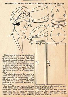 Cloche Hat Pattern- Felt Hats- Fleece Hat Patterns