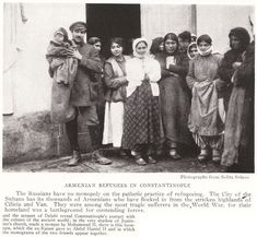 Armenian refugees in Constantinople (Istanbul), Turkey, in 1922 (seven years after the Armenian Massacre of 1915).